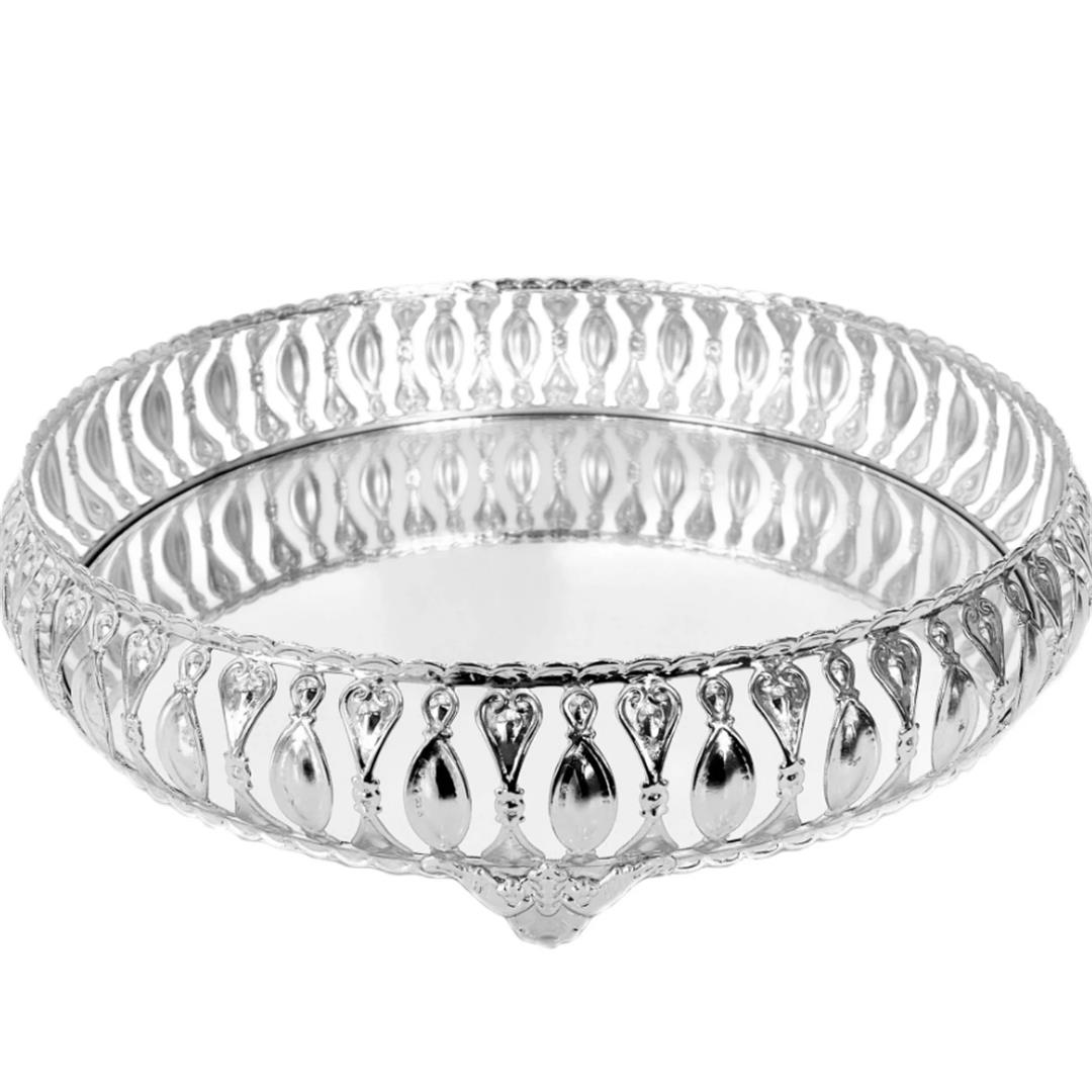 ROUND SILVER MELTEM TRAY 35 CM