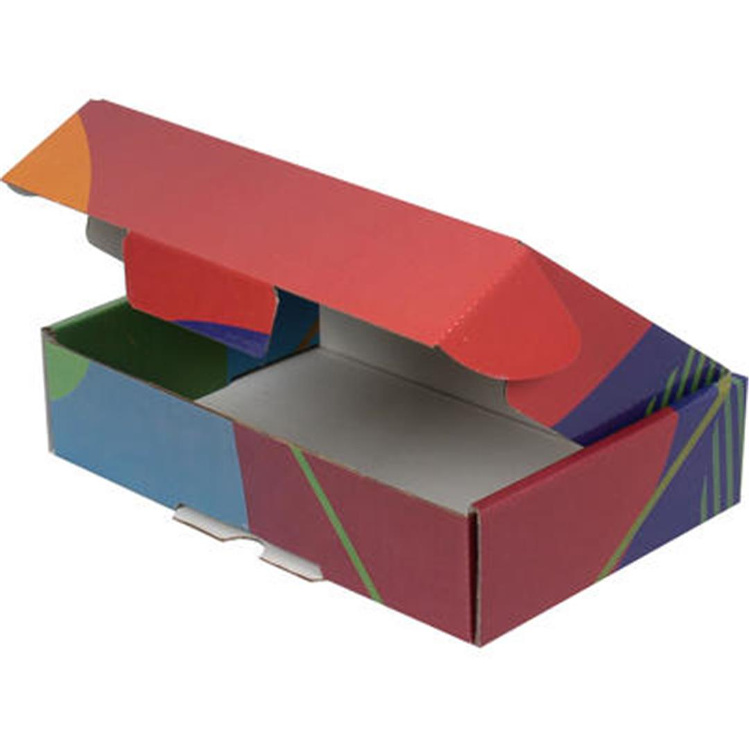 COLORFUL PATTERNED BOX (BLUE-GREEN) - 24x16,5x6 CM