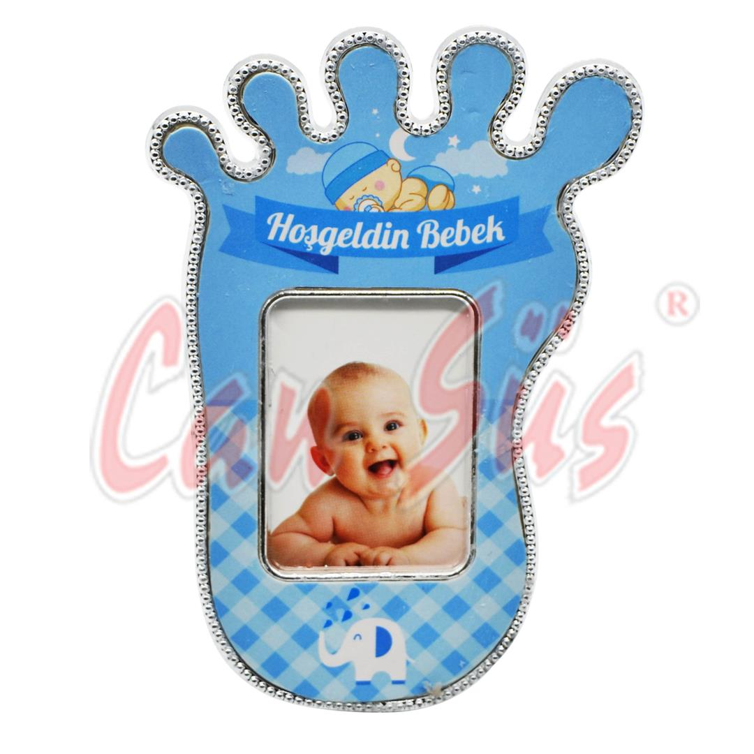 25 PIECES PLASTIC LARGE LEGS MINI PHOTO FRAME BLUE