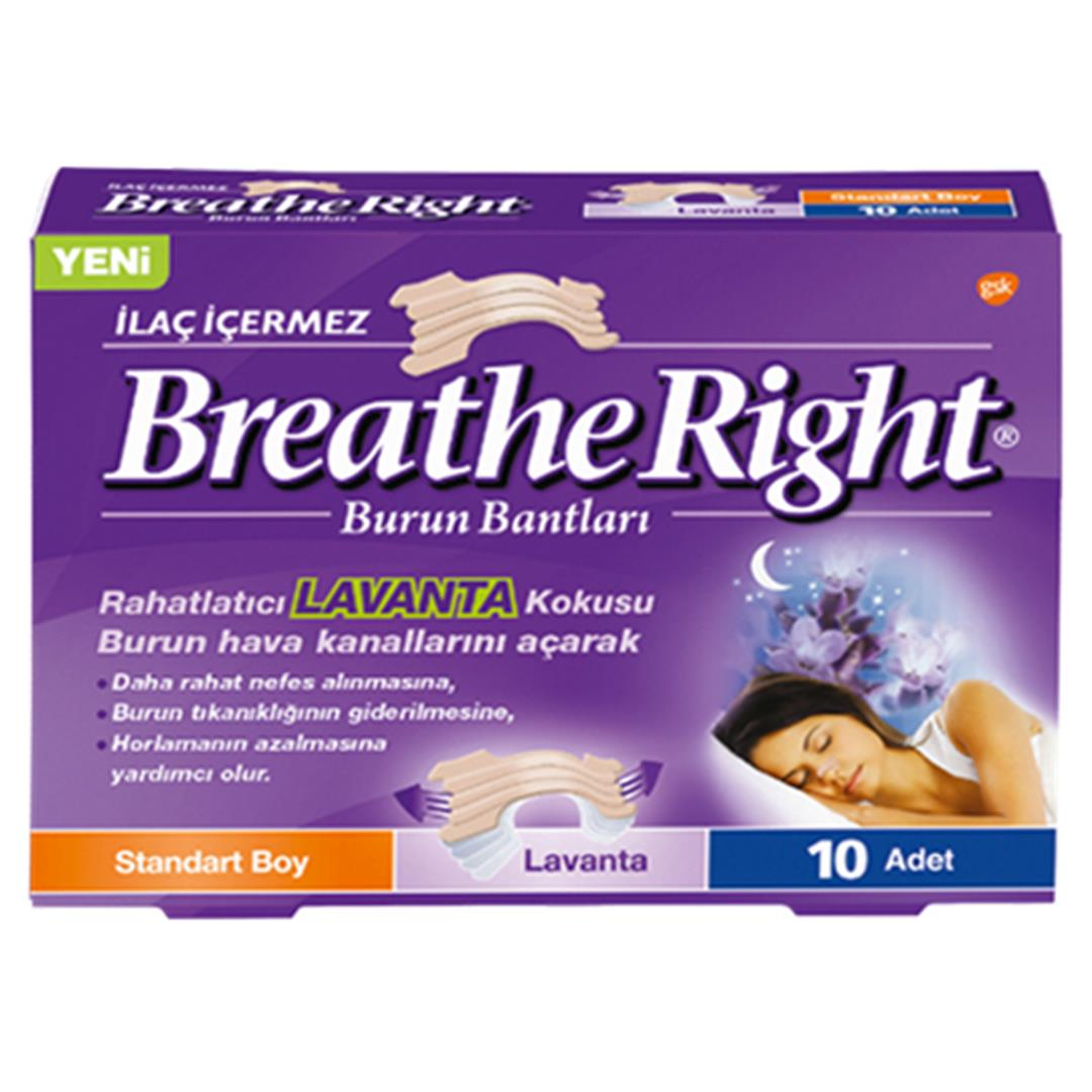 Breathe Right Burun Bandı Lavanta 10 Adet