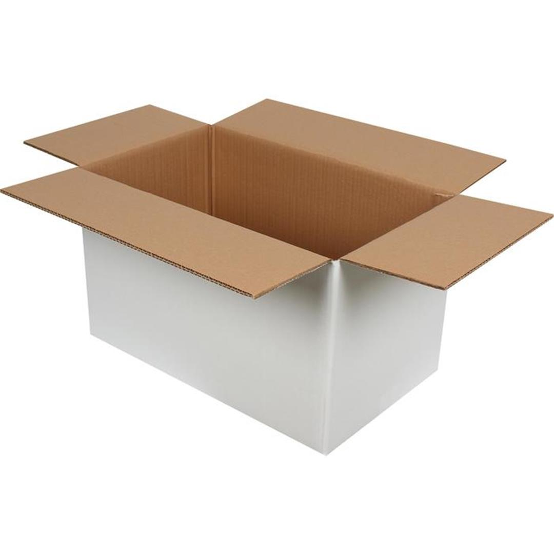 DOUBLE CORRUGATED WHITE PACKAGE - 50x30x30 CM