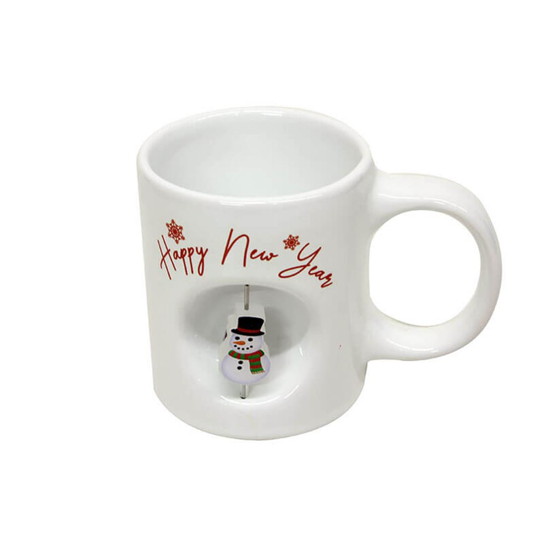 STRESS CUP WITH SNOW MAN PATTERN