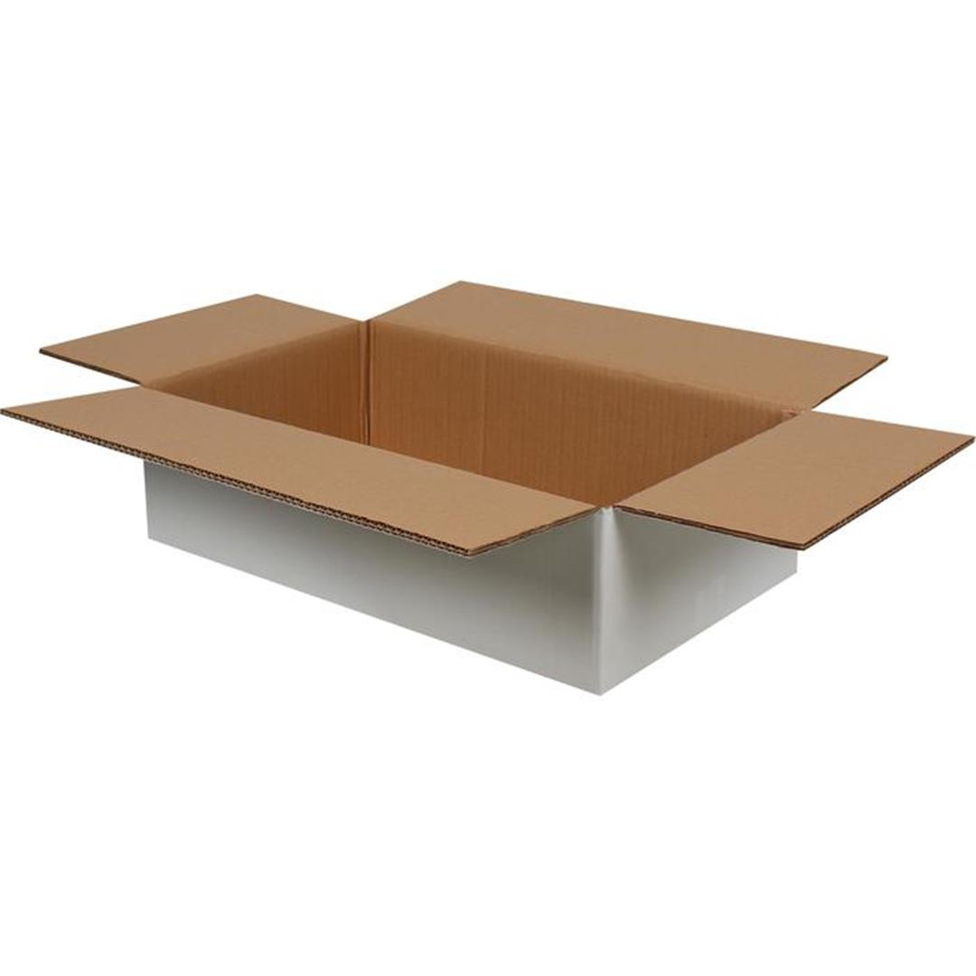 DOUBLE CORRUGATED WHITE PACKAGE - 50x30x15 CM