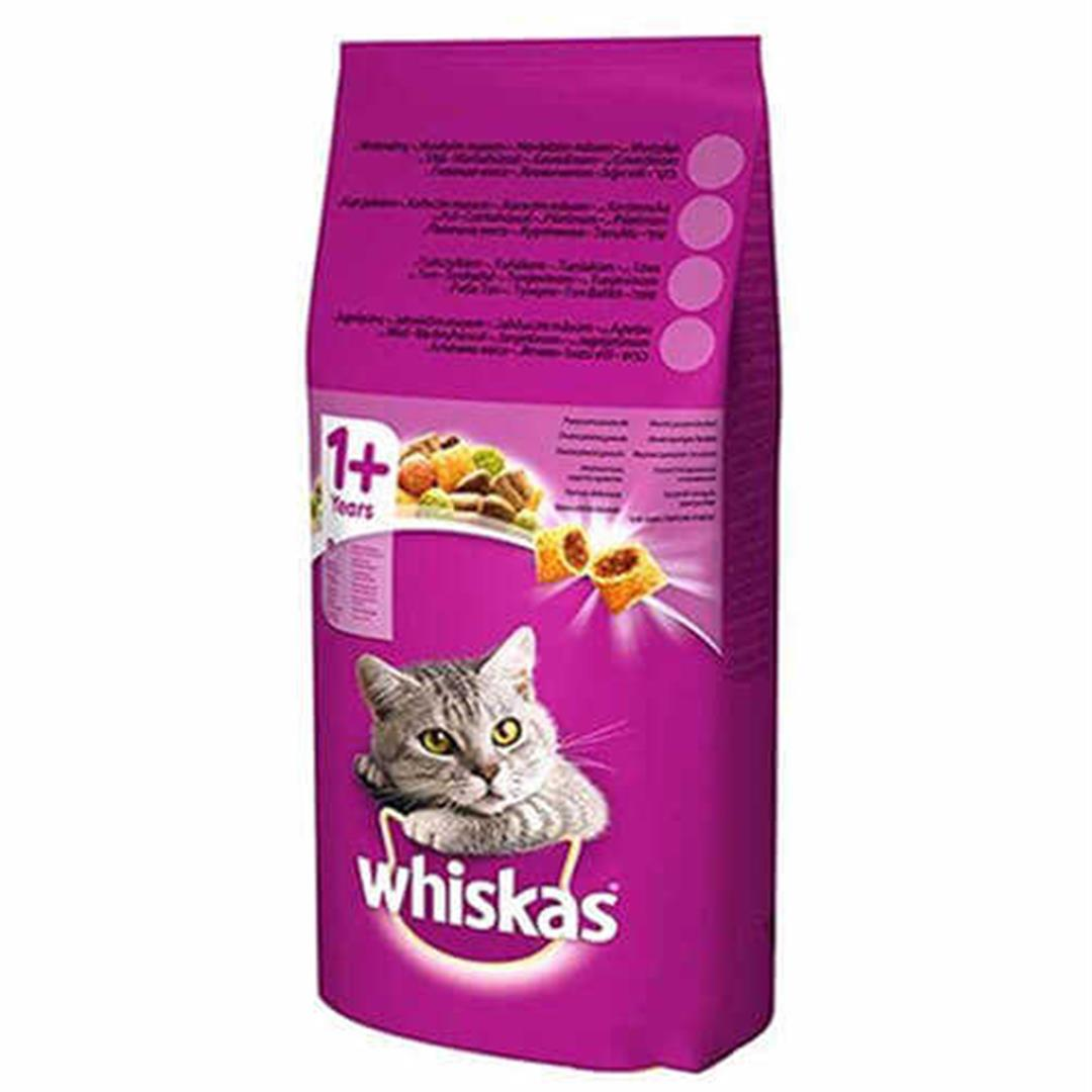 ADULT DRY CAT FOOD WITH WHISKAS BEEF AND LIVES 14 KG