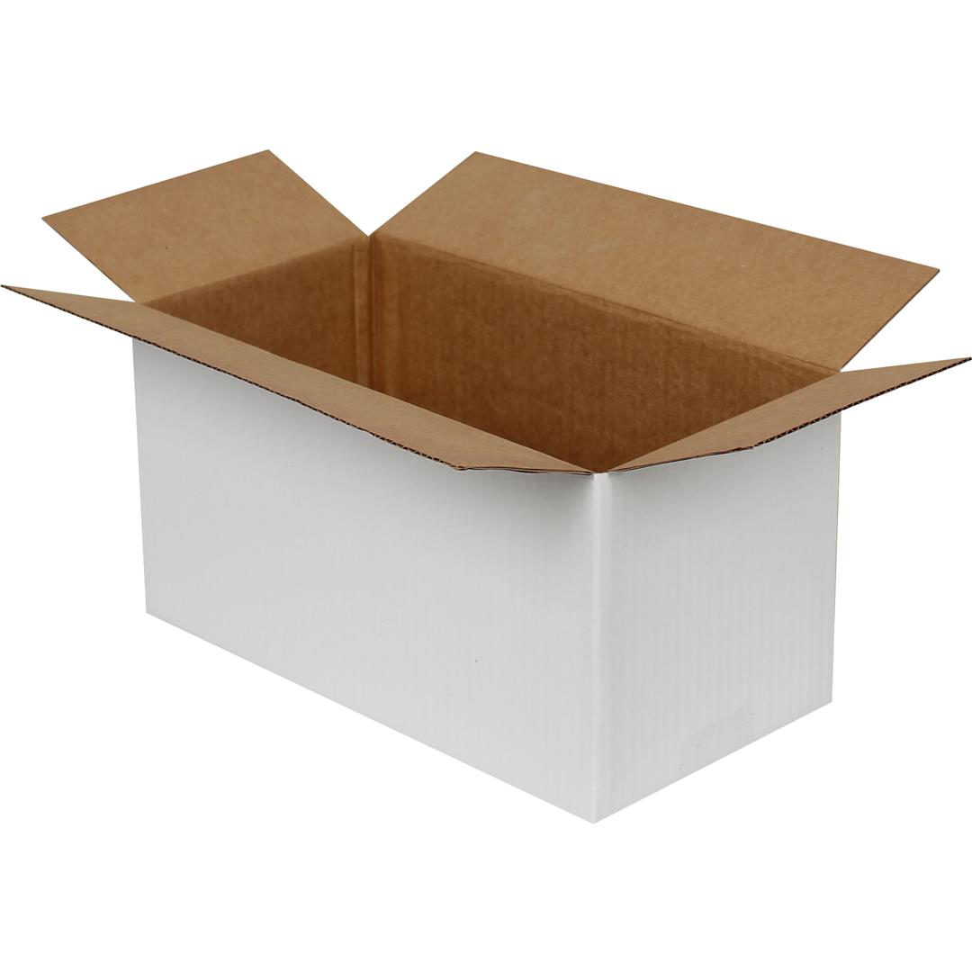 SINGLE CORRUGATED WHITE PACKAGE - 29x15x15cm CM