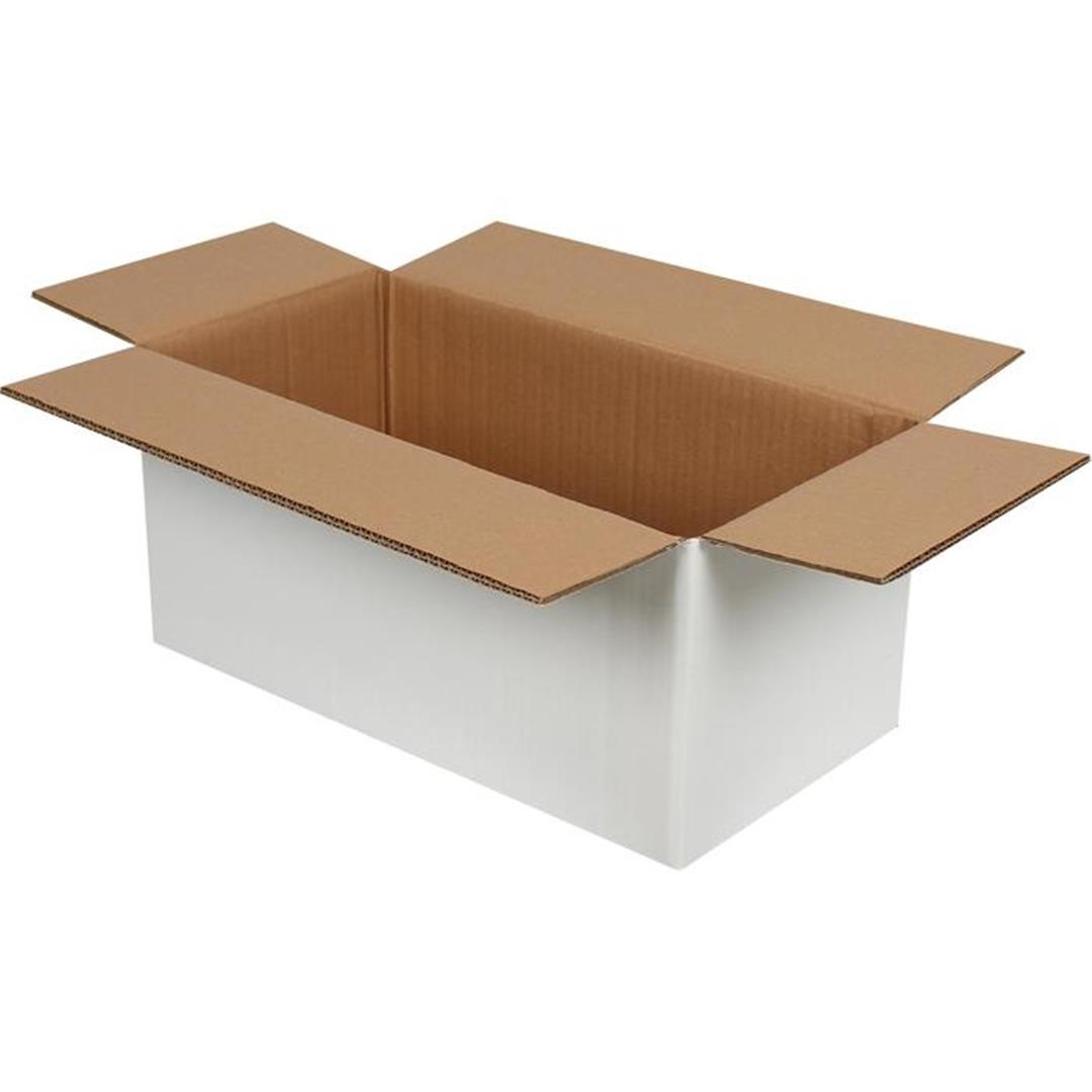 DOUBLE CORRUGATED WHITE PACKAGE - 41x21x18 CM