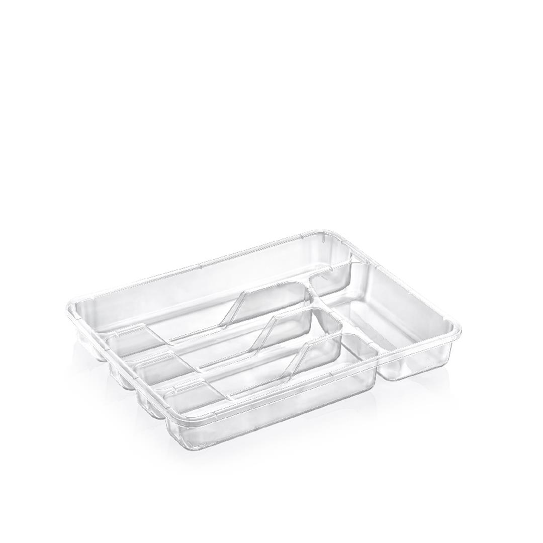 TRANSPARENT LARGE SIZE DRAWER SPOON (386x312x70 MM)