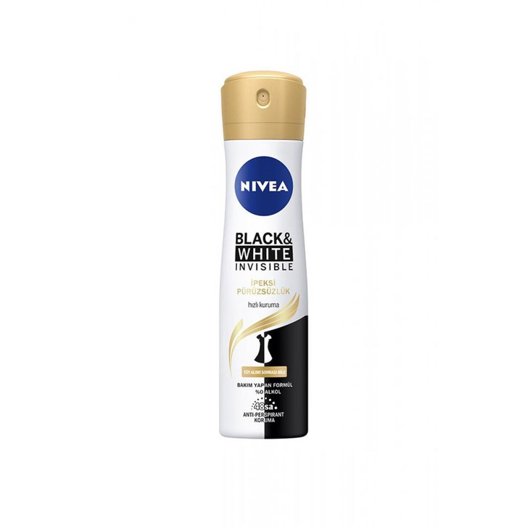 Nivea Deodorant Invisible Black White İpeksi Pürüzsüzlük 150 ML