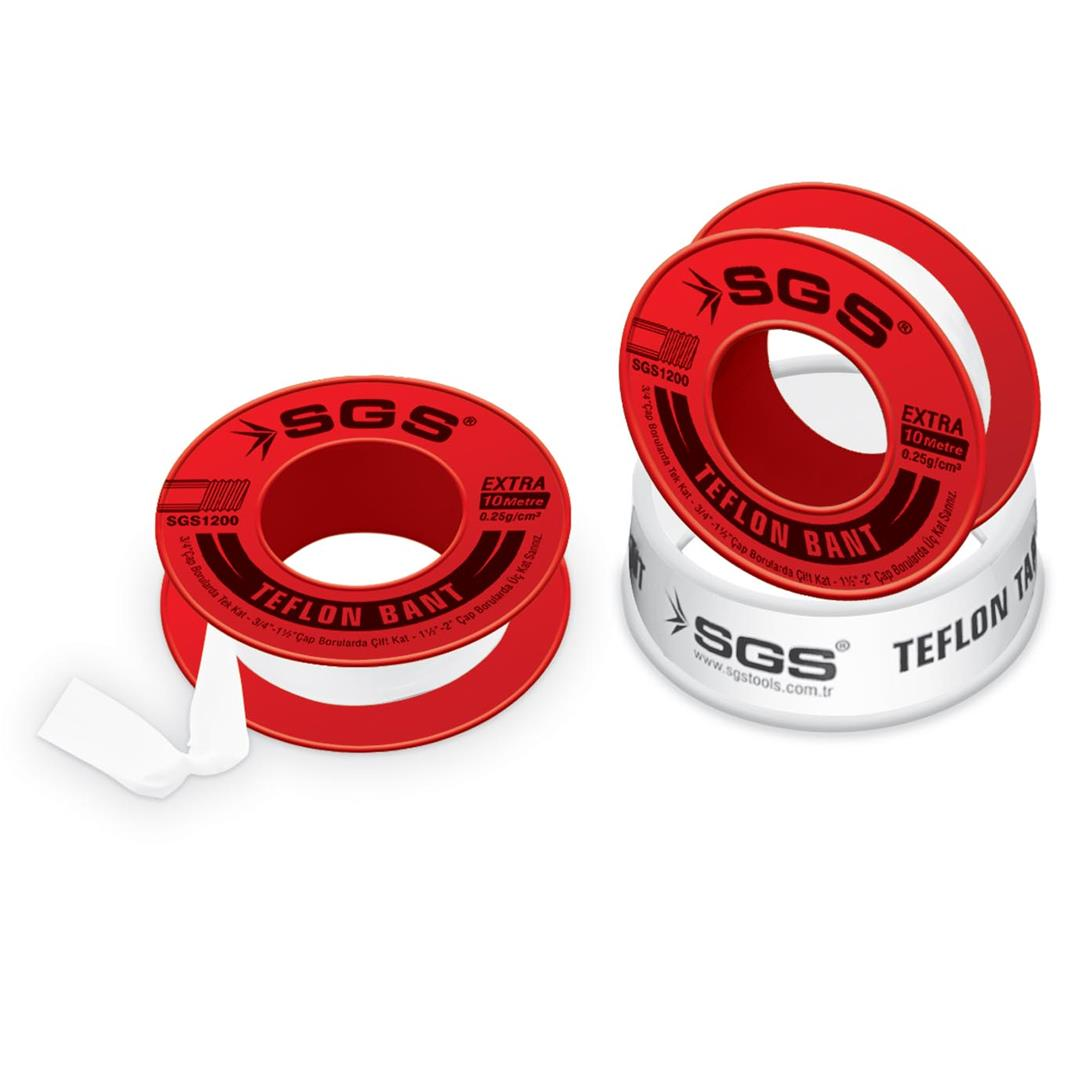 250 PIECES EXTRA TEFLON TAPE 12 MM x 10 M 0,25 G