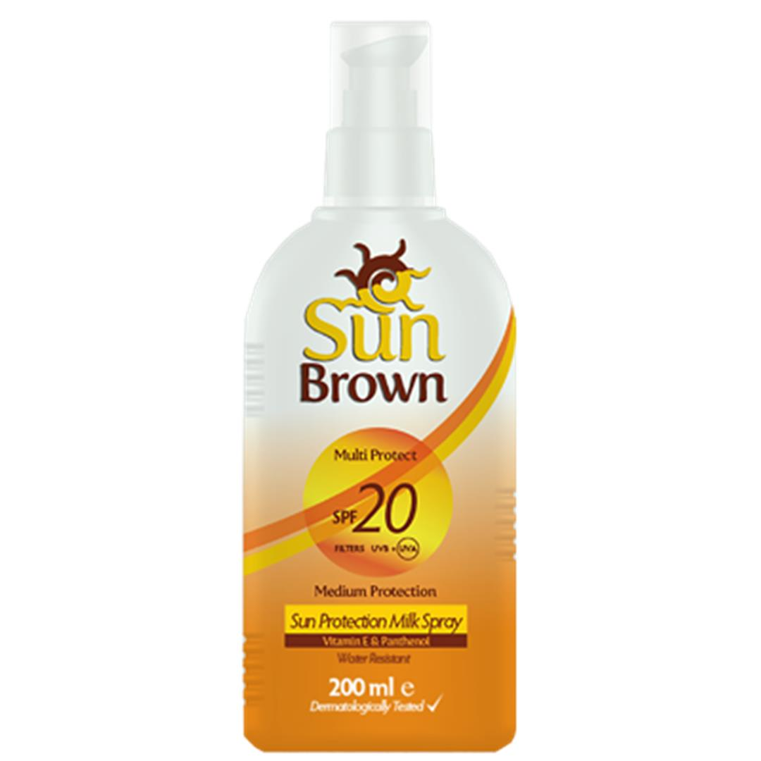 Sun Brown Sunscreen Milk 20 Factor 200 Ml