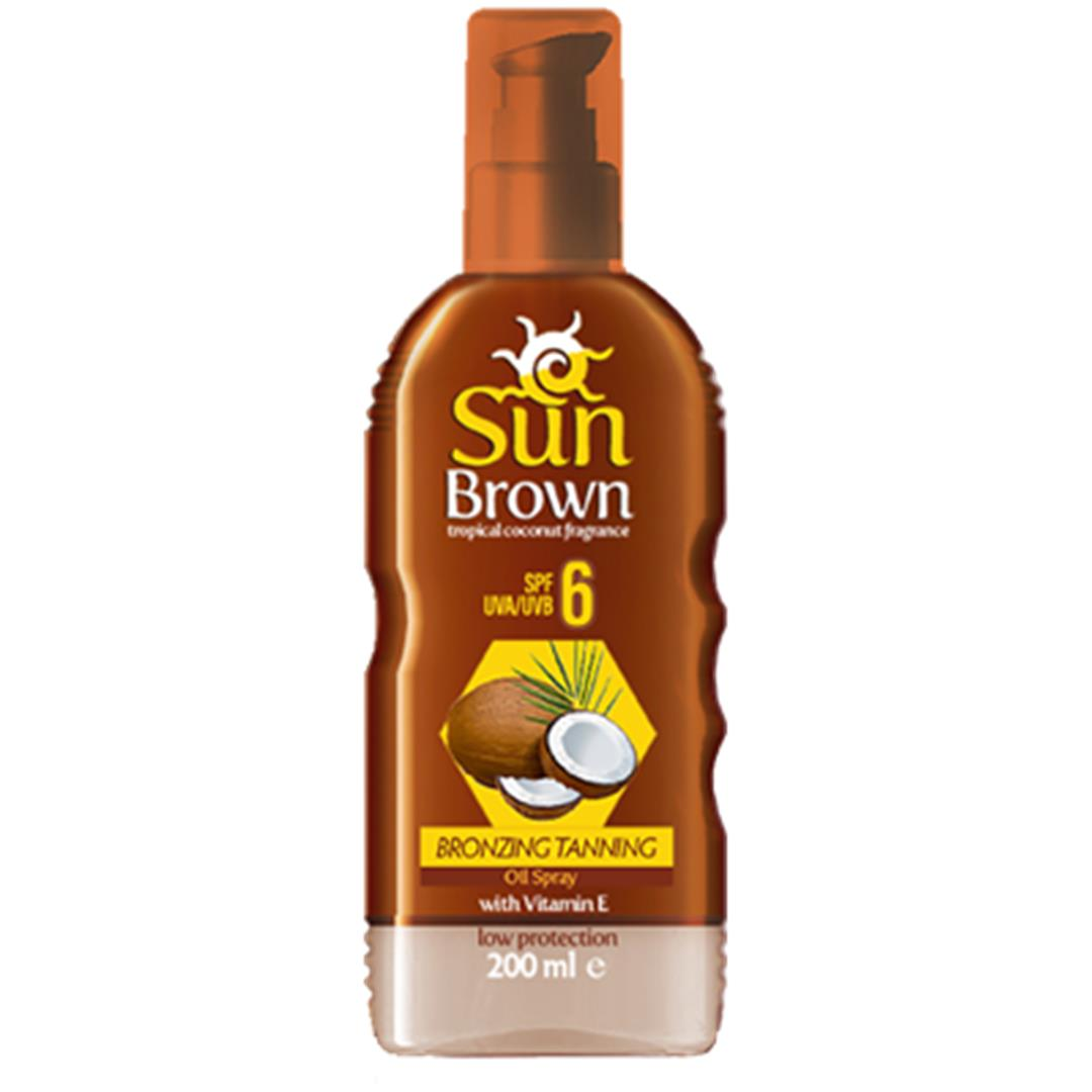Sun Brown Bronzing Sun Oil 6 Factor 200 Grams