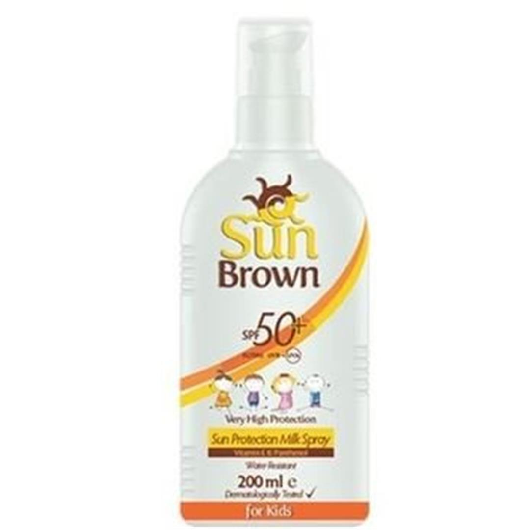 Sun Brown Sunscreen Milk 50 Factor 200 Ml For Children