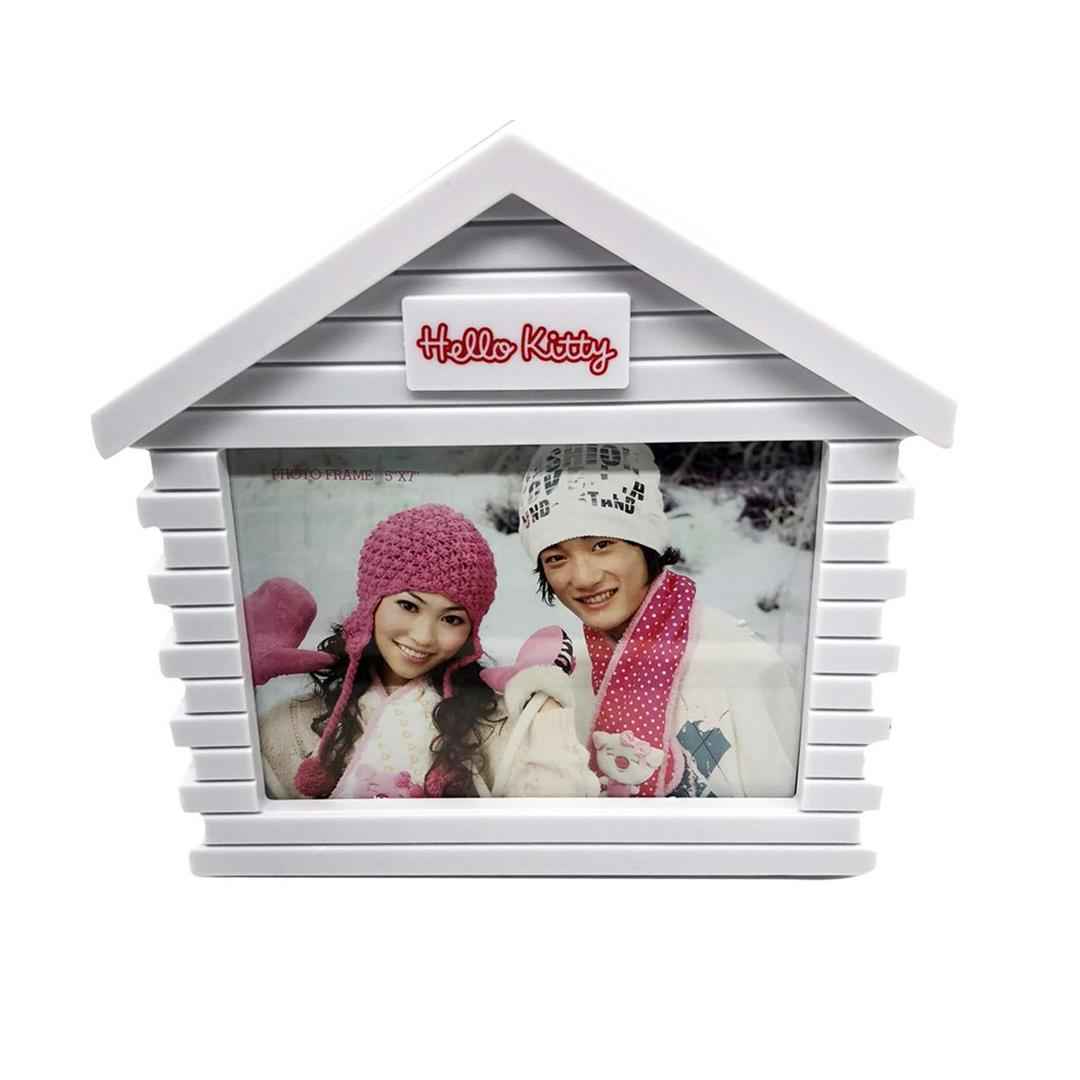HOME SHAPE PHOTO FRAME WHITE