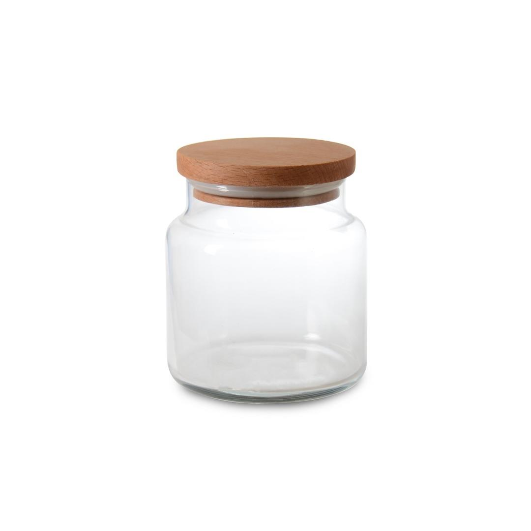 MEDIUM JAR WITH WOODEN LID