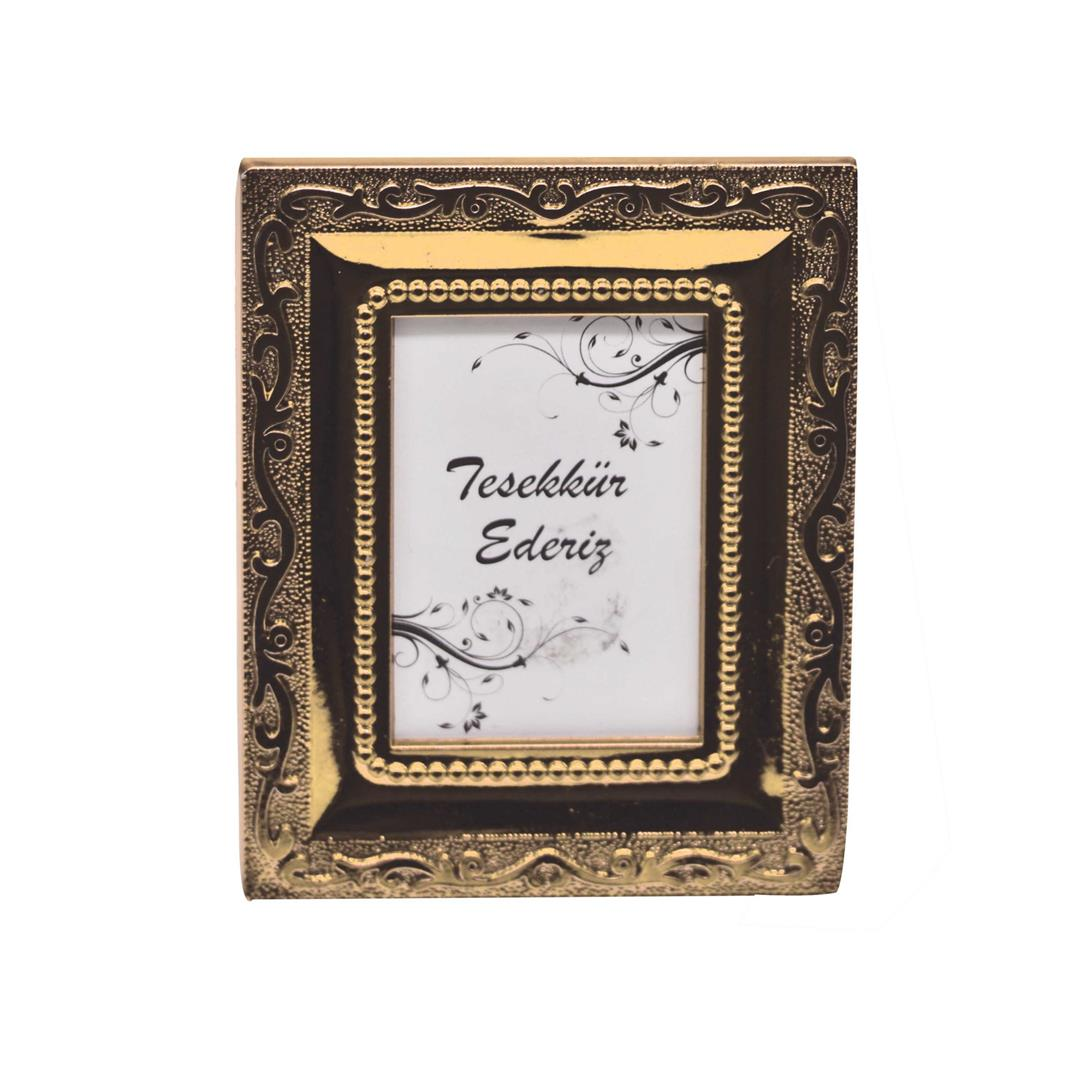 25-RECTANGULAR MINI PHOTO FRAME GOLD