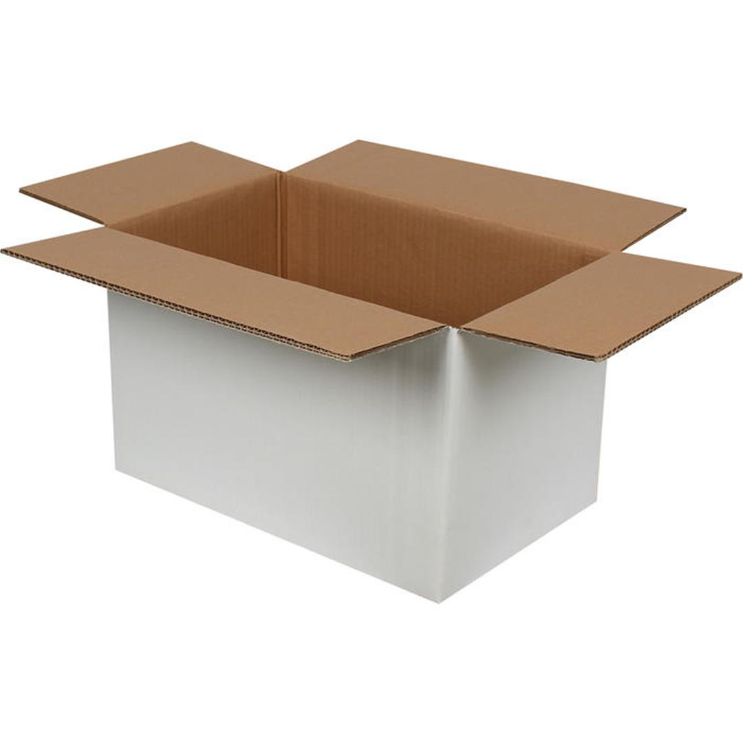 DOUBLE CORRUGATED WHITE PACKAGE - 40x25x25 CM