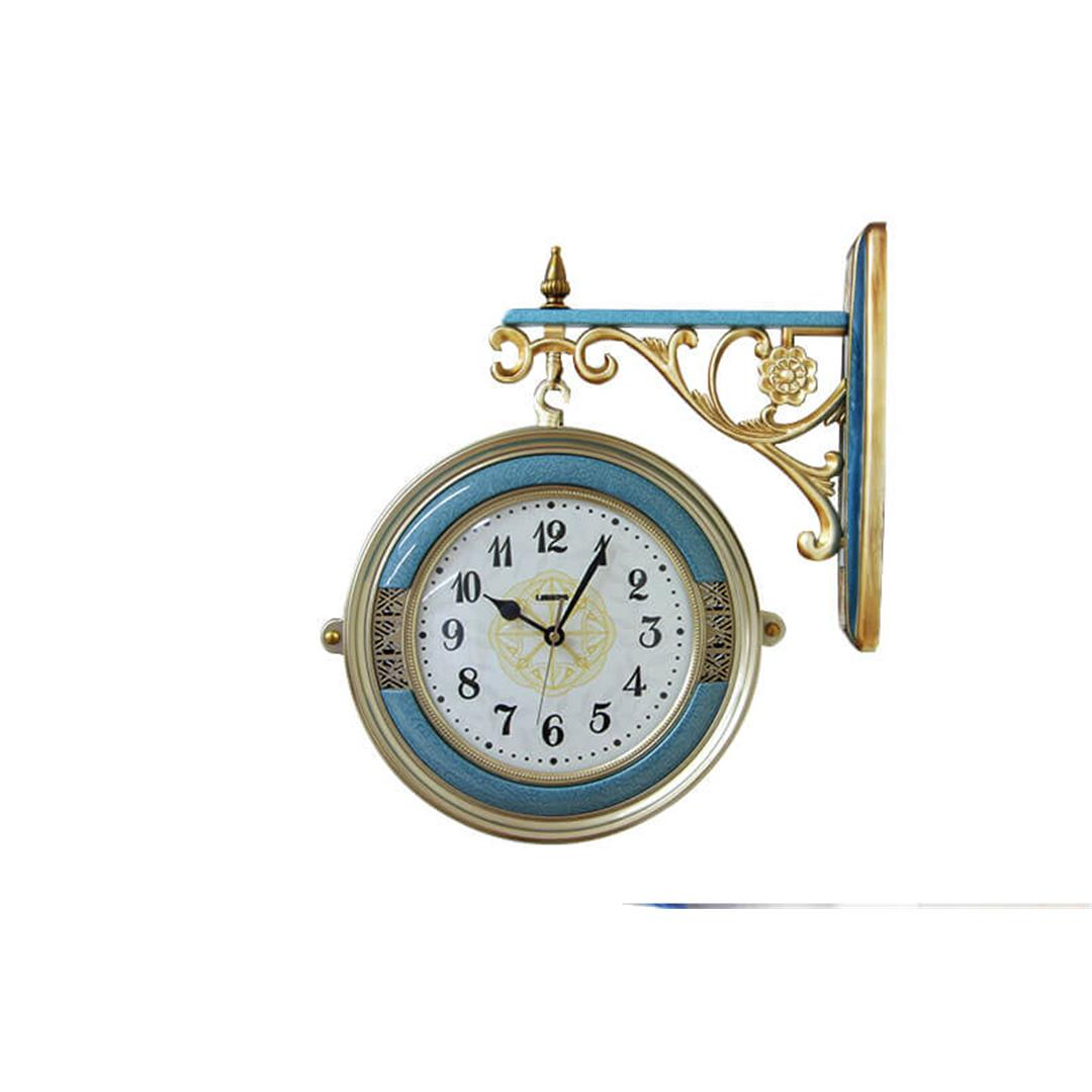 WROUGHT IRON STATION WALL CLOCK