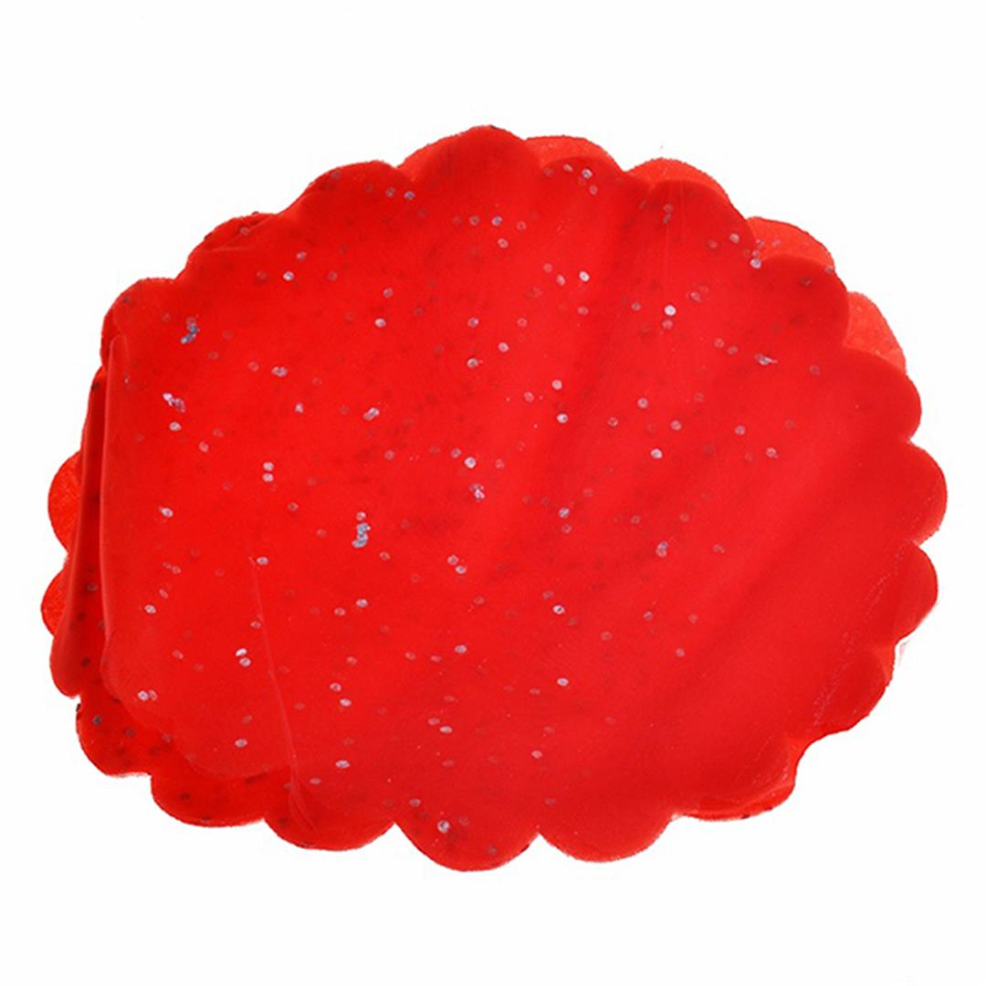 50'S ROUND TULLE FLAT BAG RED