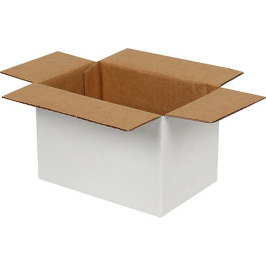 SINGLE CORRUGATED WHITE BOX - 20x10x10 CM