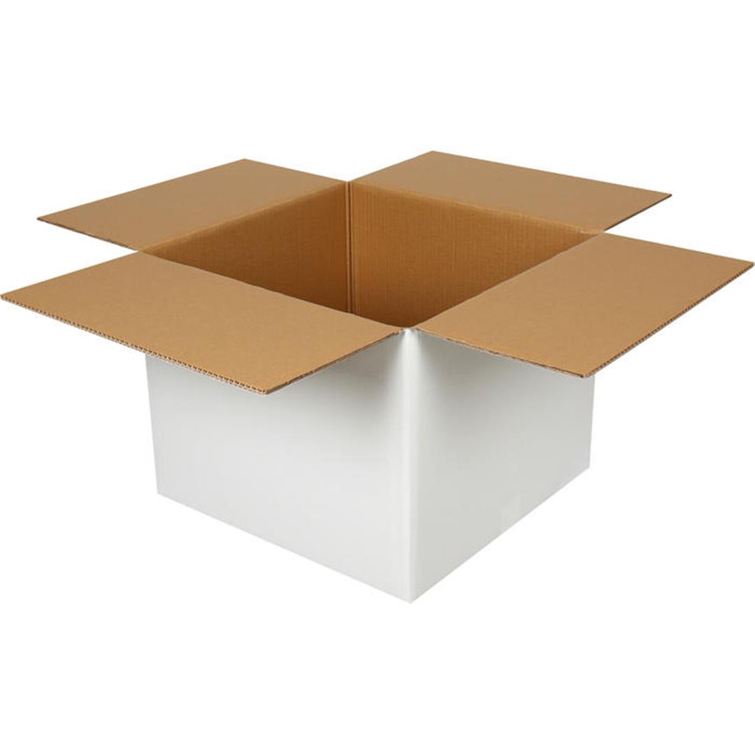 DOUBLE CORRUGATED WHITE PACKAGE - 45x44x36 CM
