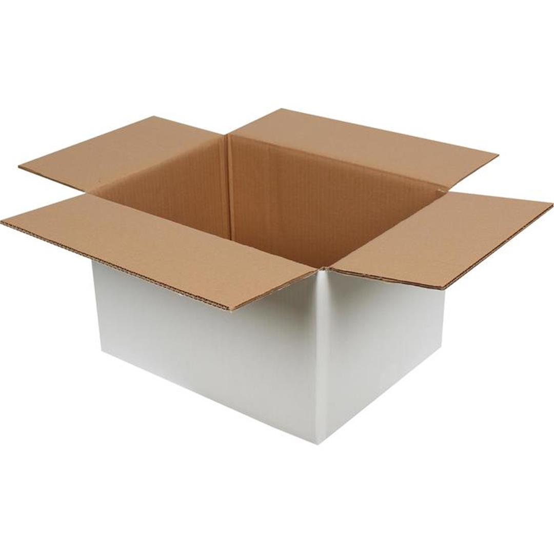 DOUBLE CORRUGATED WHITE PACKAGE - 40x30x25 CM
