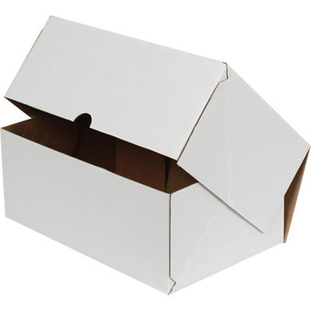 WHITE E-COMMERCE CARGO BOX - 17x17x6 CM