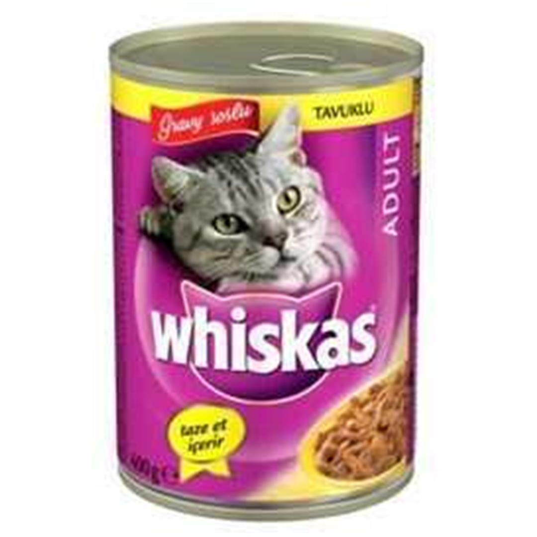 CHICKEN WHISKAS GRAVY SAUCE ADULT CAT CAN FOOD 100 GR (6 PCS)