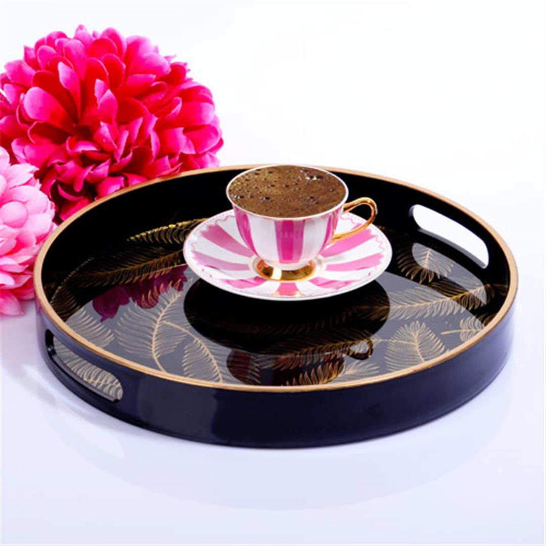 MIDDLE ROUND GLASS TRAY