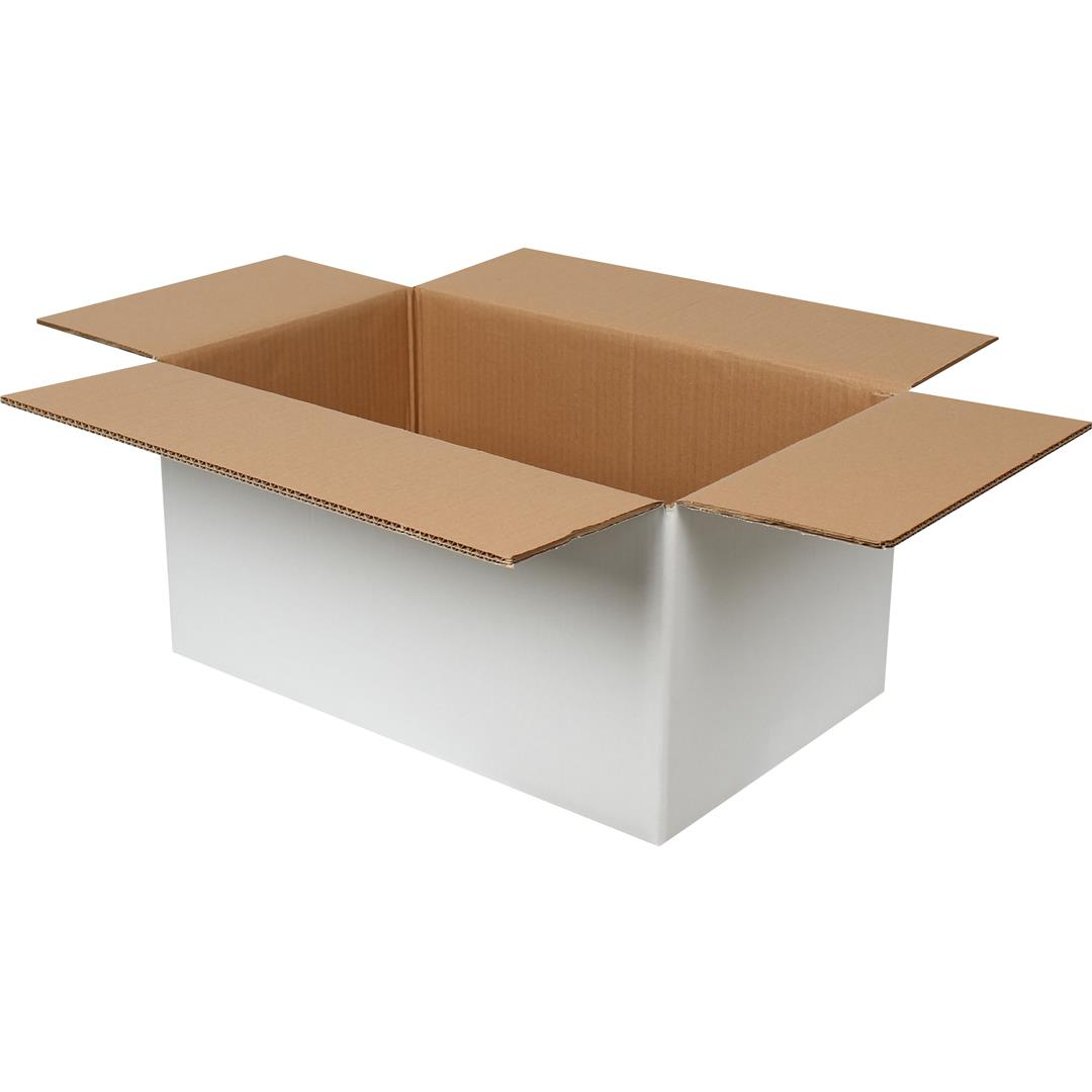 DOUBLE CORRUGATED WHITE PACKAGE - 50x30x25 CM