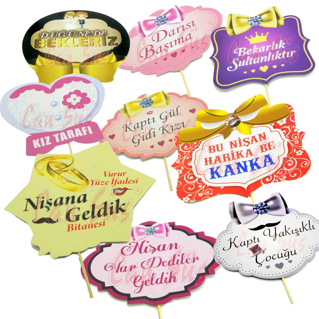 5 PCS OF ENGAGEMENT THEME HAND BOARDS