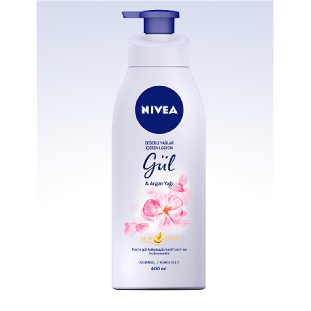 LOTION ROSE & ARGAN OIL WITH NIVEA VALUABLE OIL 400 ML