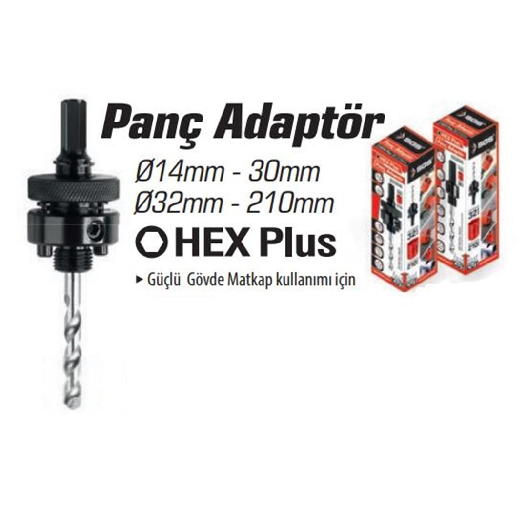 100'LÜ PANÇ ADAPTÖR HEX PLUS 32-210 MM