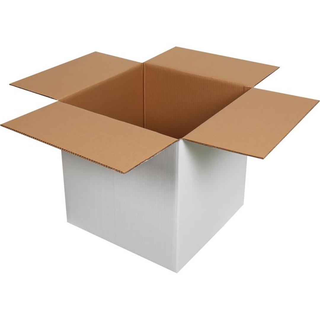 DOUBLE CORRUGATED WHITE PACKAGE - 45x45x45 CM